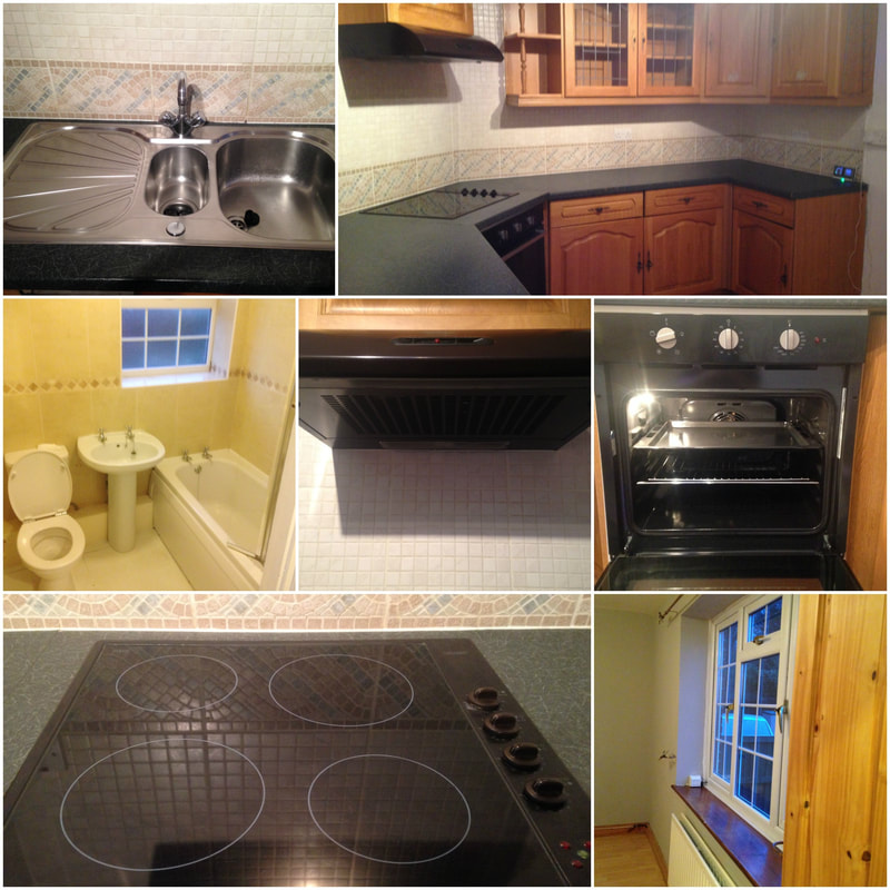 stainless steel sink & ceramic hob clean